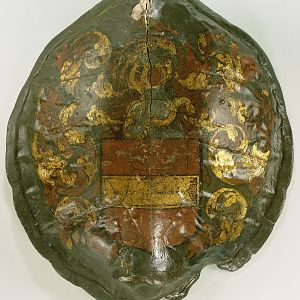 NG-AHMA-15729 Turtle Shield With The Coat Of Arms Of The Heren Van Bennebroek