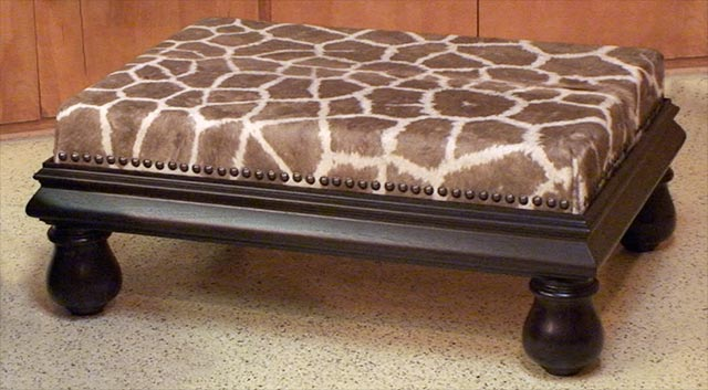 giraffe furniture. African Skin Ottoman Furniture Giraffe A