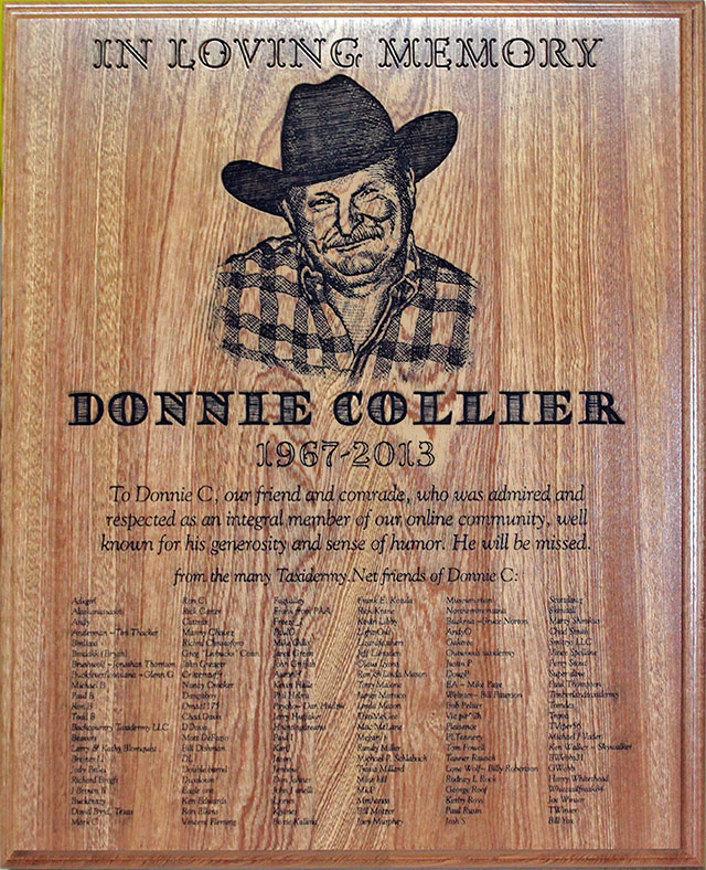 Donnie Collier Memorial Plaque