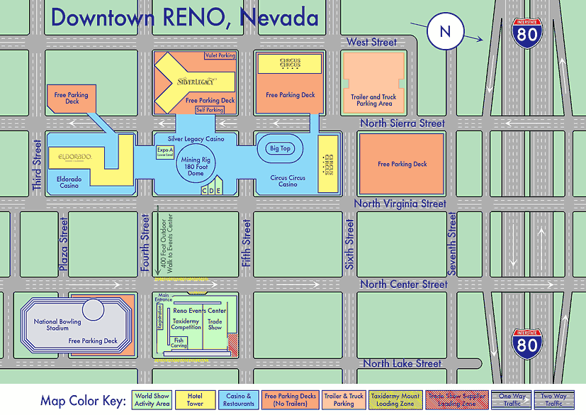 Reno casino hotels map