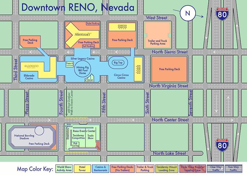 reno casino street map